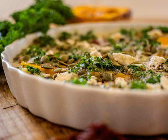 Butternut Squash, Kale and Sundried Tomato Crustless Quiche - The perfect light lunch or dinner. Grain free, gluten free and dairy free.