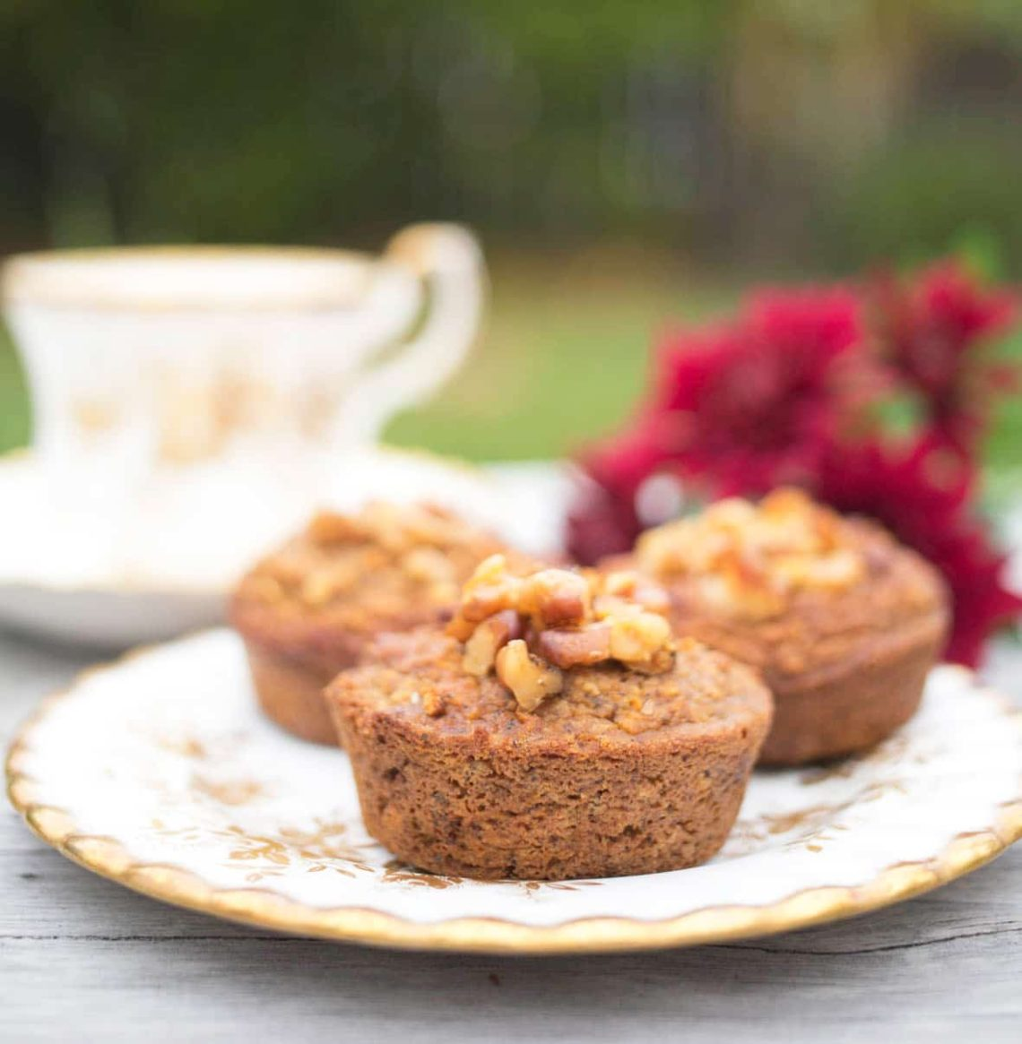 Gluten Free Pumpkin Muffins with delicious warming chai spices.