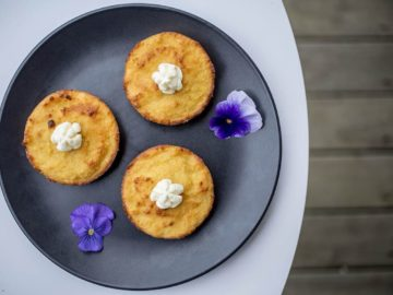 lemon almond and coconut cakes with coconut whipped cream - gluten free, dairy free and refined sugar free