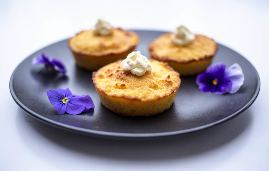 ]These mini lemon coconut cakes with whipped coconut cream are the perfect little treat! They are so simple to make and can be whipped up pretty quickly. Paleo, gluten free, grain free and dairy free. #glutenfreerecipes #grainfree #lemoncake #paleodessert #dairyfree #paleo #glutenfree