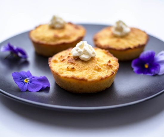 Lemon almond and coconut cakes with whipped coconut cream - Gluten Free, Dairy Free and Refined Sugar Free