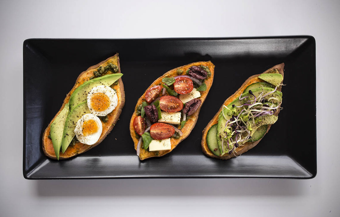 Sweet Potato Toast with 3 Delicious Healthy Toppings - Such an easy nutritious gluten free breakfast or lunch