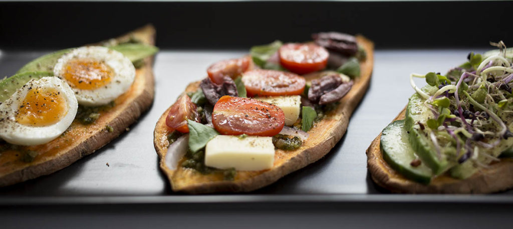 Sweet Potato Toast with 3 Delicious Healthy Toppings - Such an easy and nutritious gluten free breakfast or lunch.