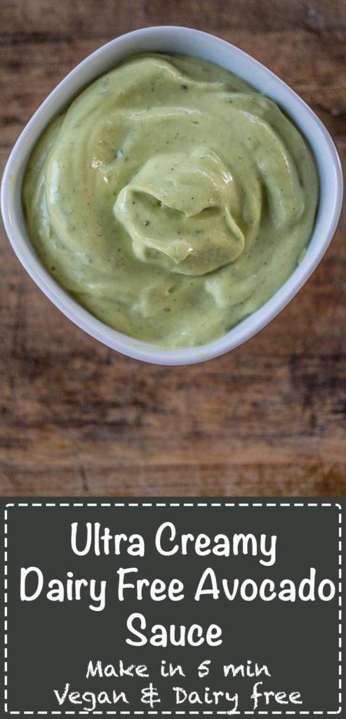 Creamy Dairy Free Avocado Sauce - Love Food Nourish