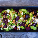 Beetroot, Avocado & Rocket Quinoa Salad with Spiced Walnuts & Mint
