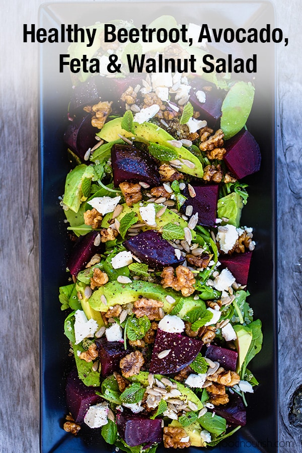 Beetroot, Avocado and Feta Salad Pinterest Image