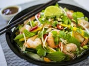 Vietnamese Summer Roll Salad with Spicy Peanut Sauce - A delicious fresh salad that is full of flavour. Gluten Free, Dairy Free, Refined Sugar Free.