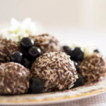 Creamy Blueberry, Cacao and Coconut Energy Balls