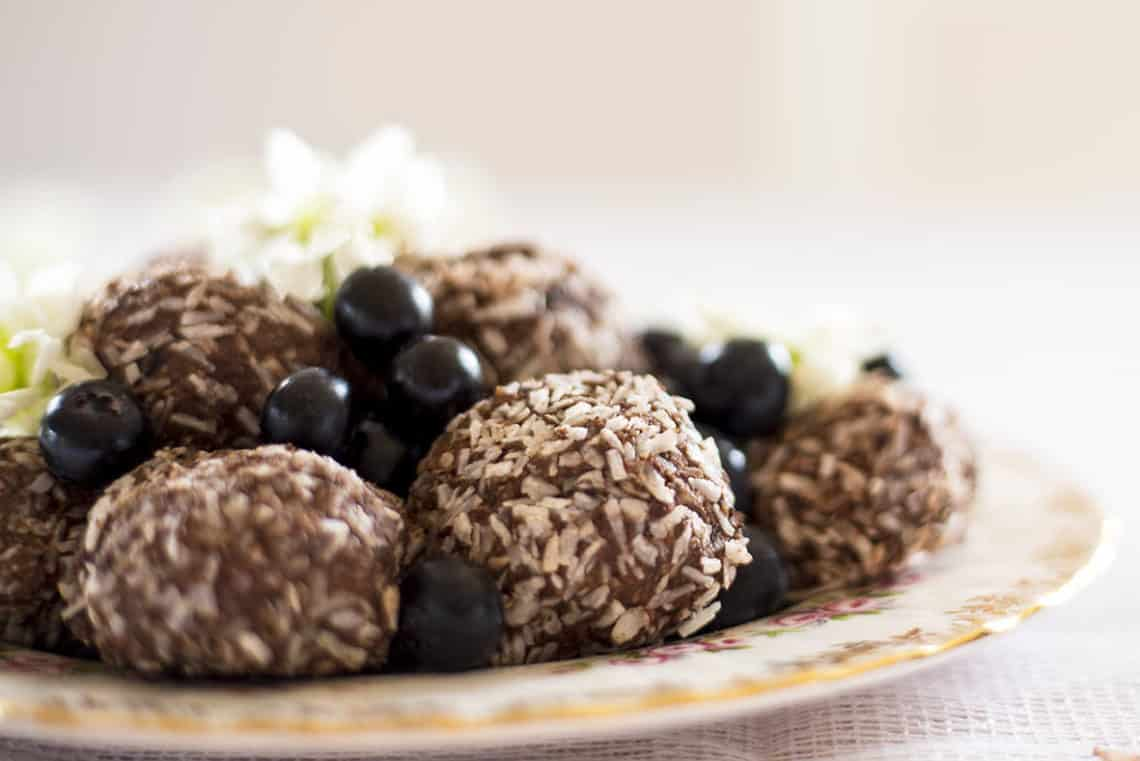 Creamy Blueberry Cacao And Coconut Energy Balls Love