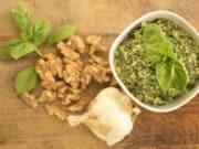 So quick and easy and a tasty way to get more greens into your little ones! A vegan pesto that goes perfectly on your favorite platter. Dairy Free, Vegan, Gluten Free.