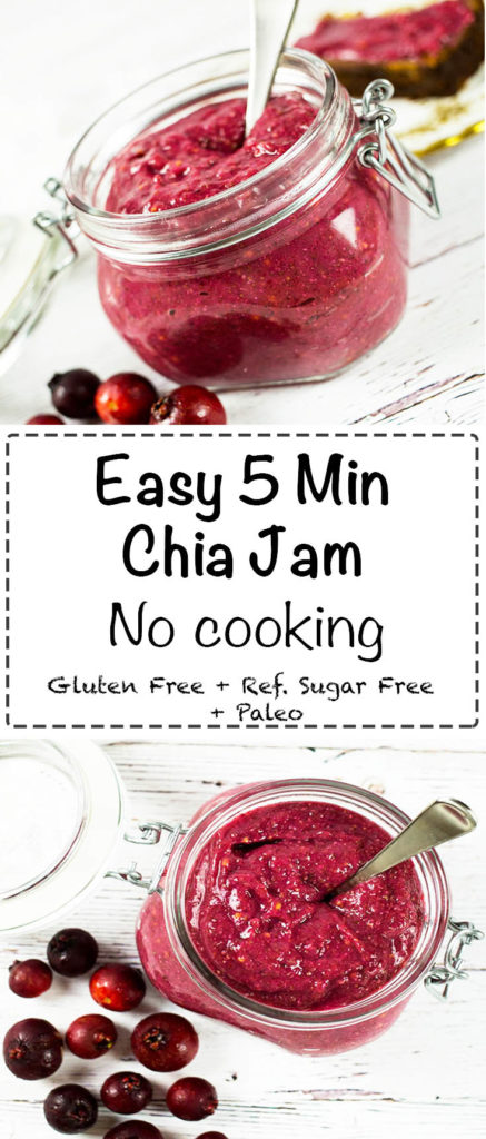 Easy Chia Jam - Healthy and tasty a delicious chia seed jam that is the perfect addition to toast, waffles, add to smoothies or porridge. Healthy and Easy. Gluten Free, Refined Sugar Free and Paleo.