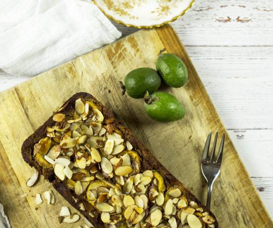 Gluten free Banana & Feijoa Loaf - Refined sugar free & paleo.