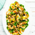 Hot Smoked Salmon Salad with Egg & Mustard Potatoes