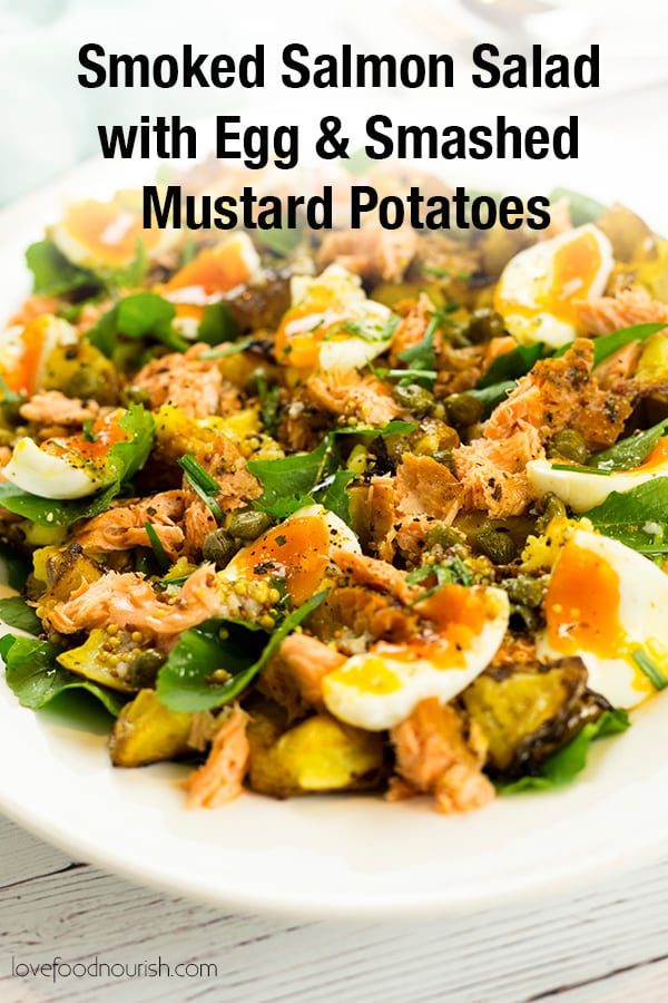 Smoked Salmon Salad Pinterest Image