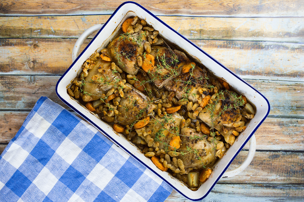 Chicken with Cannellini Beans and Thyme