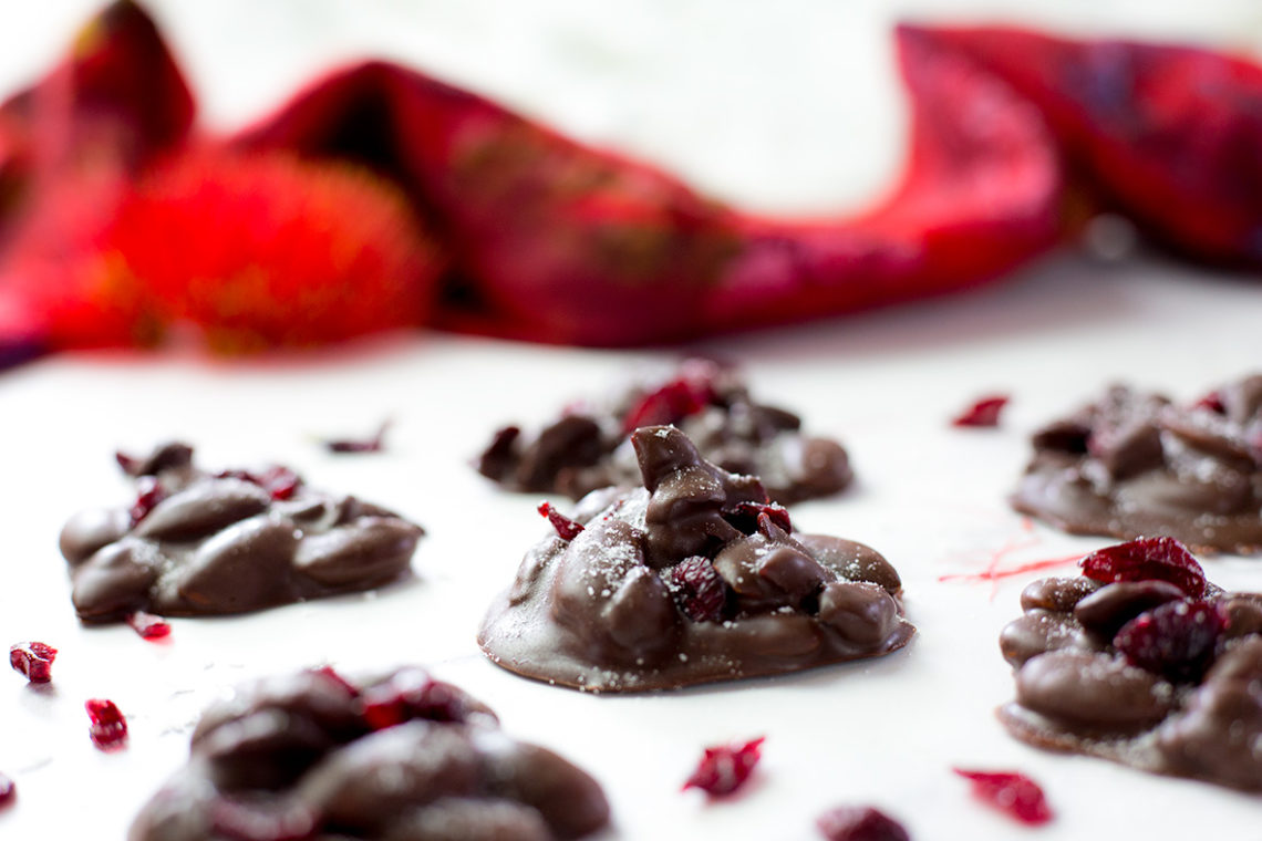 Chocolate Almond Cranberry Clusters