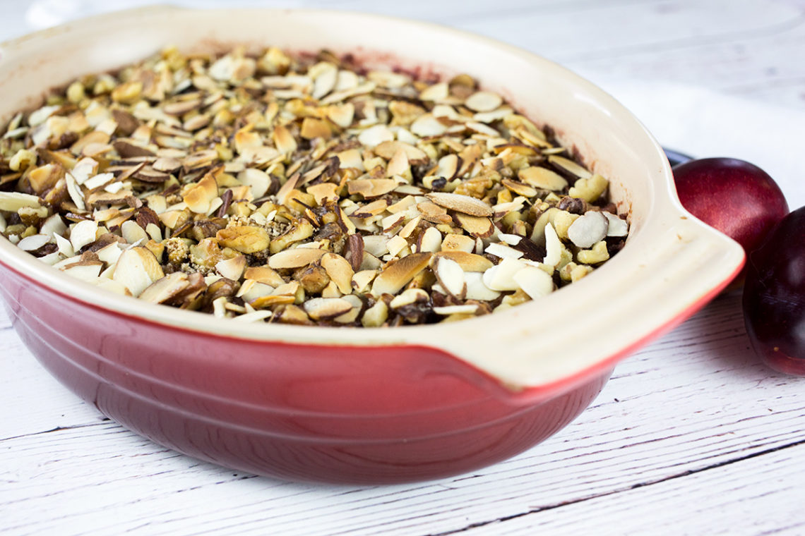 Apple and Plum Crumble - Gluten Free & Paleo