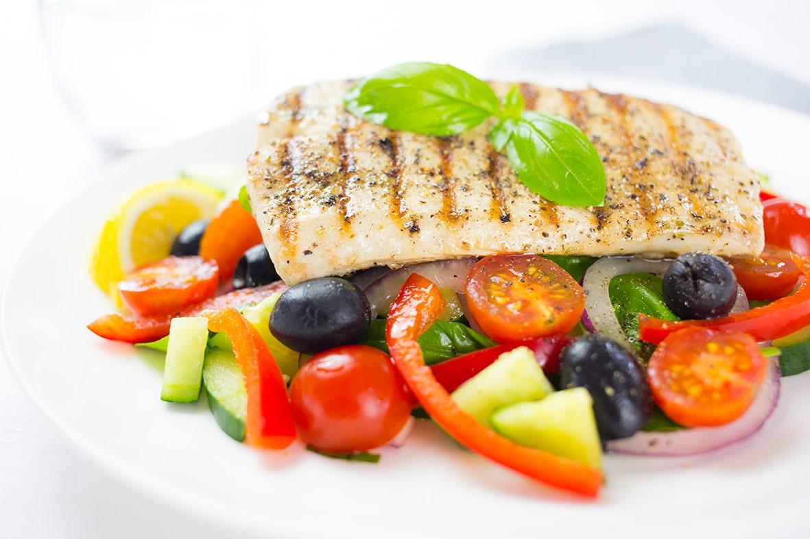 Fish Salad Greek Style Love Food Nourish