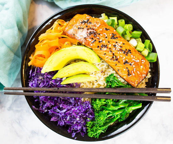 Teriyaki Salmon Bowl with Vegetables