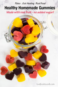 Healthy Homemade Gummies Pinterest Image