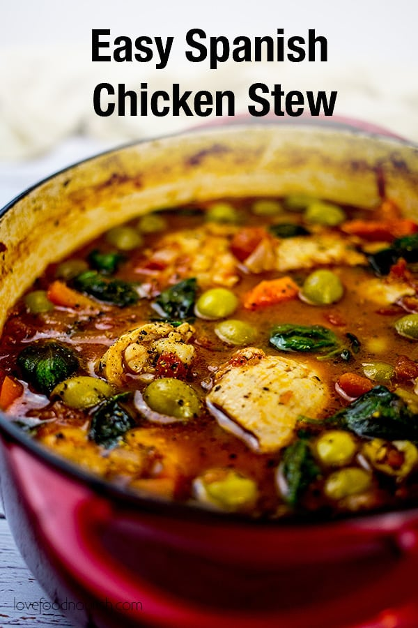 Spanish Chicken Stew Pinterest Image