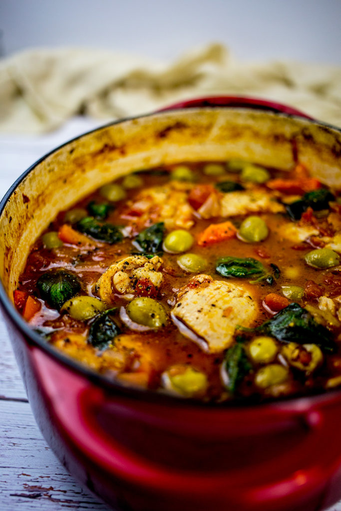 Close up of Spanish Chicken Stew