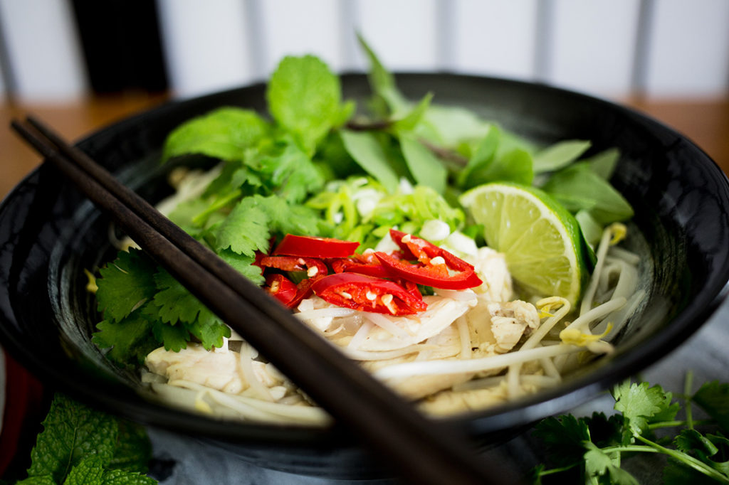 Close up of Chicken Pho Ga