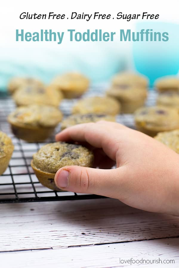 Healthy Toddler Muffins Pinterest Image