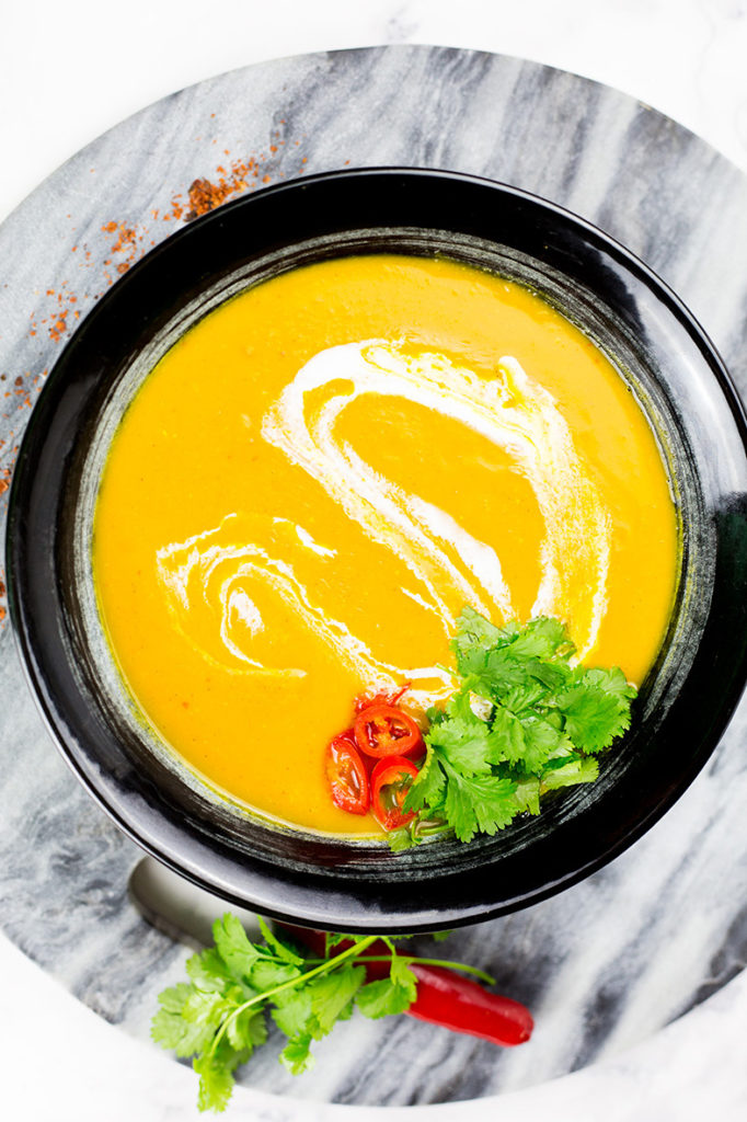 Birdseye view of Thai Butternut Squash Soup