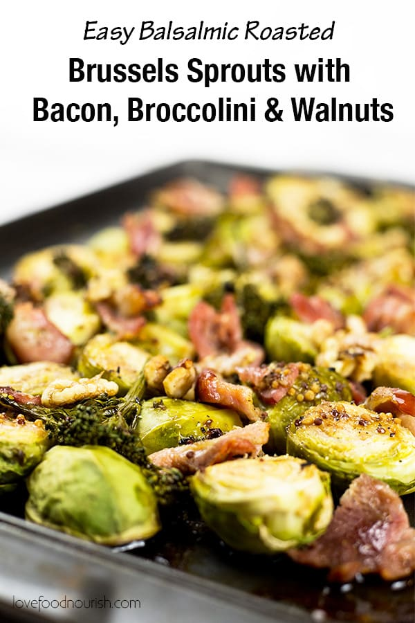 Brussels Sprouts with Bacon Pinterest Graphic