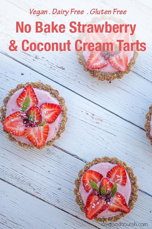 Mini Strawberry Tarts (G.F, D.F, Vegan, Paleo)